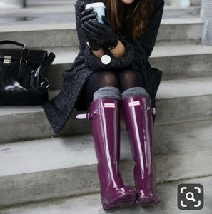 Hunter violet tall boots
